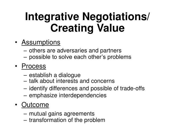 Integrative Negotiations/