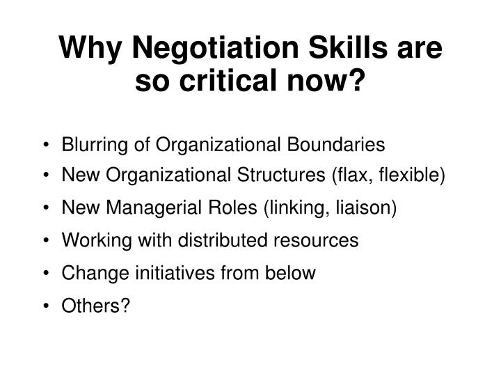 Why Negotiation Skills are so critical now?