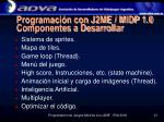 programaci n con j2me midp 1 0 componentes a desarrollar