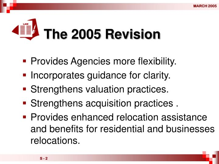 The 2005 Revision