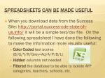 spreadsheets can be made useful
