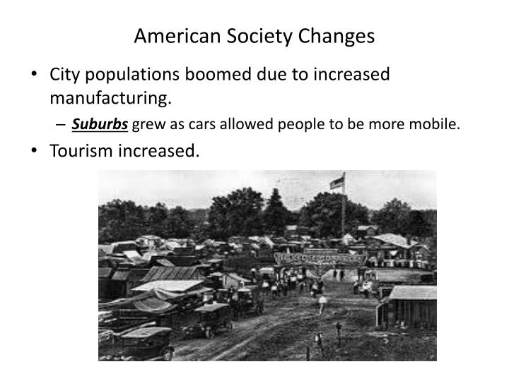 American Society Changes