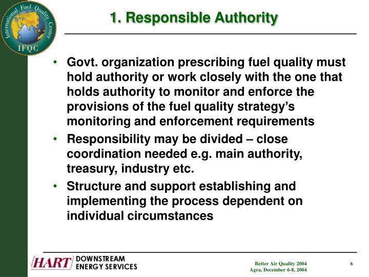 1. Responsible Authority