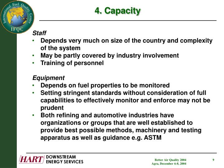 4. Capacity
