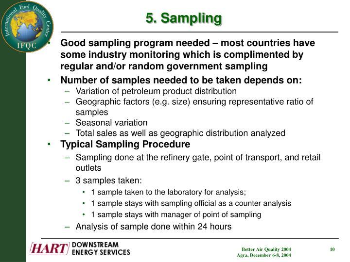 5. Sampling
