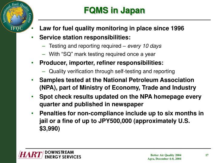 FQMS in Japan
