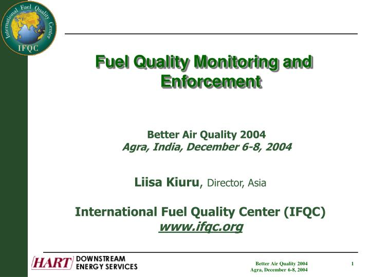 Fuel Quality Monitoring and Enforcement