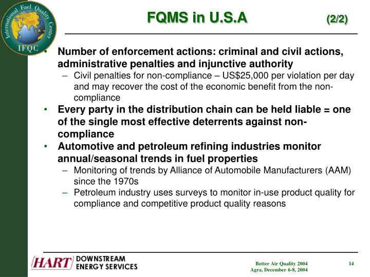 FQMS in U.S.A