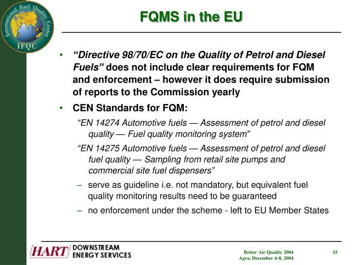 FQMS in the EU