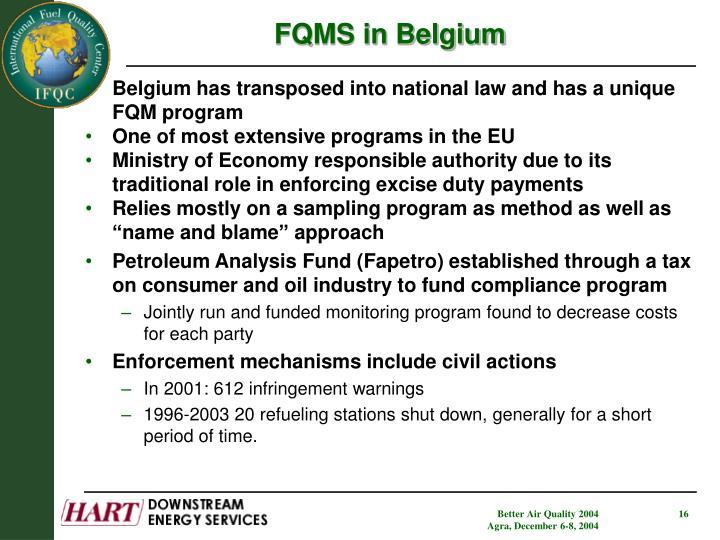 FQMS in Belgium