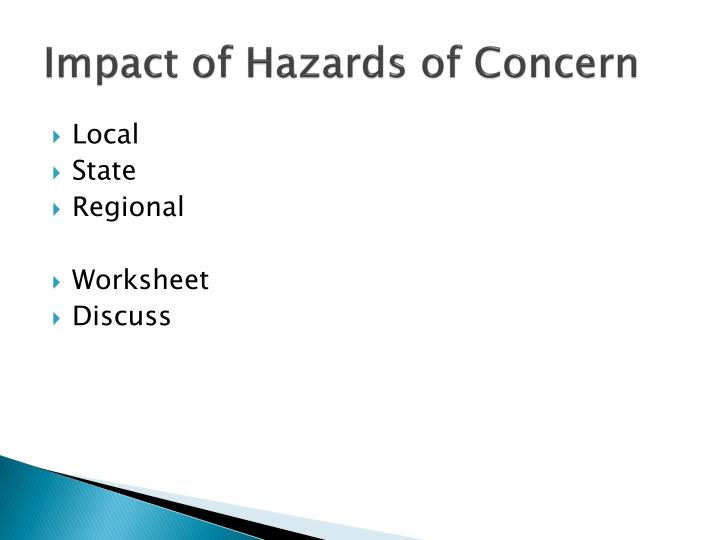 Impact of Hazards of Concern