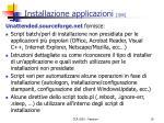 installazione applicazioni 3 6