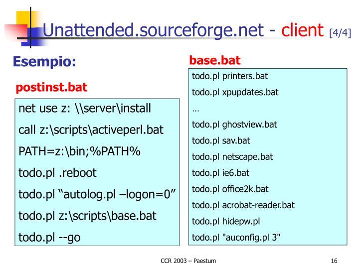 Unattended.sourceforge.net -