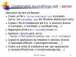unattended sourceforge net server