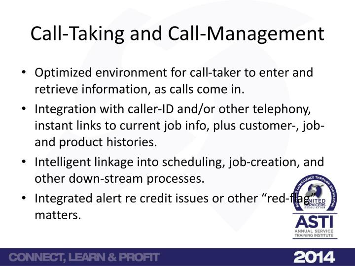 Call taking and call management