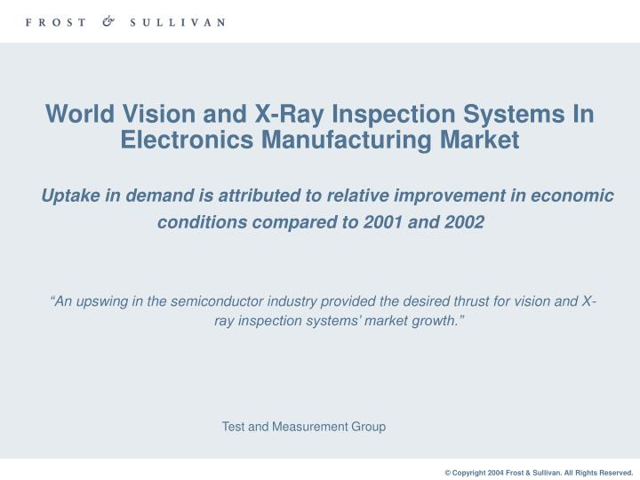 World Vision and X-Ray Inspection Systems In Electronics Manufacturing Market