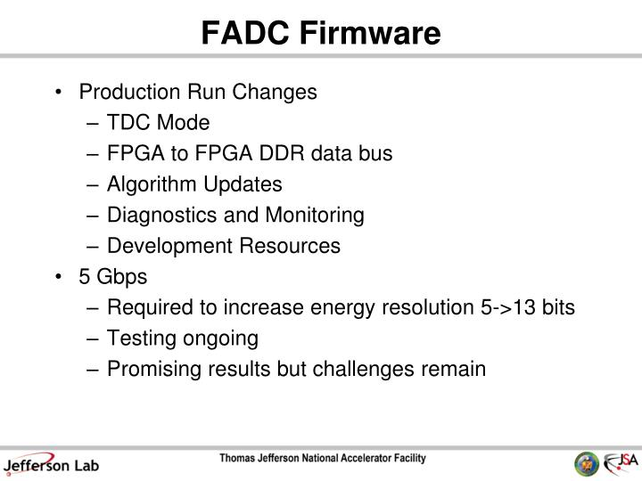 Fadc firmware