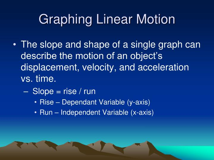 Graphing Linear Motion