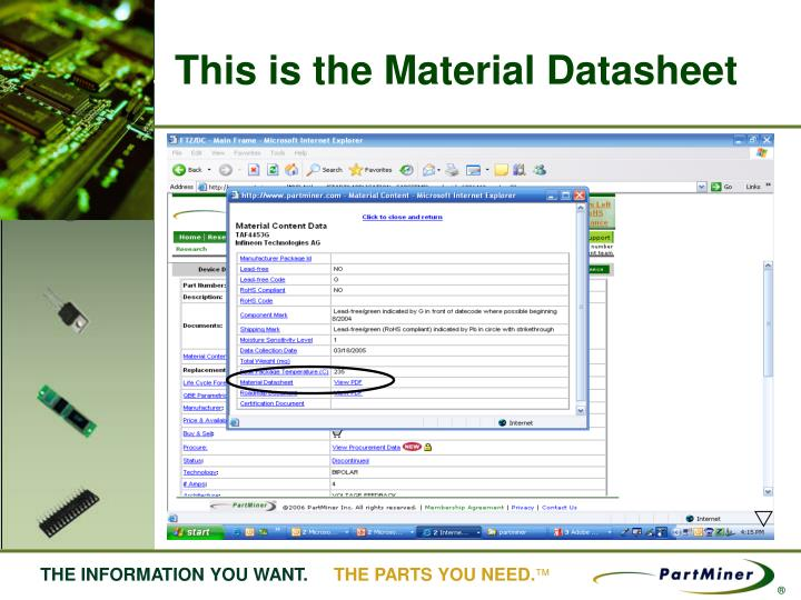 This is the Material Datasheet