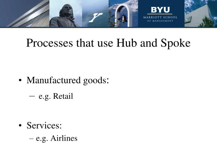 Processes that use Hub and Spoke