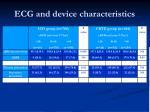 ecg and device characteristics