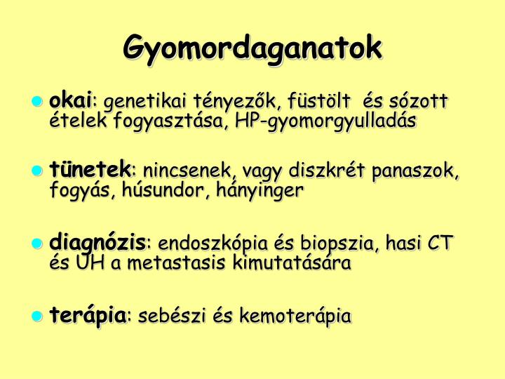 Gyomordaganatok