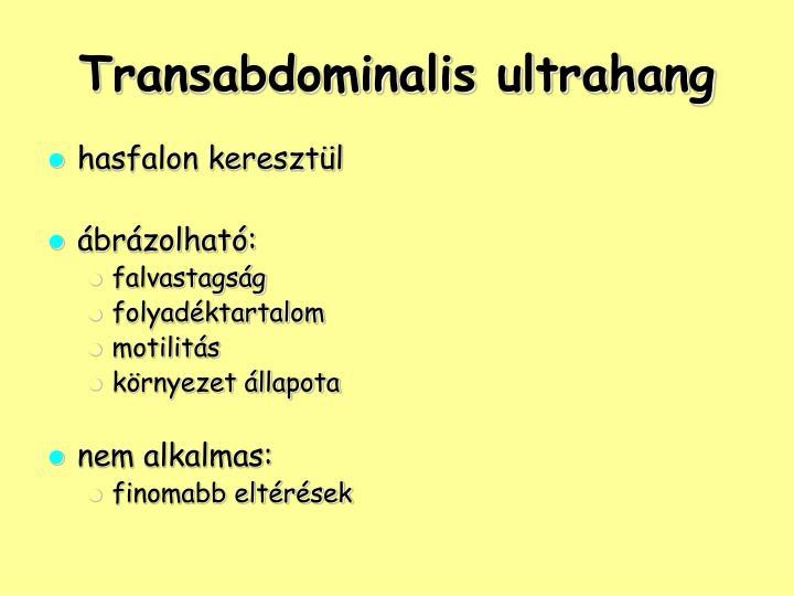 Transabdominalis ultrahang