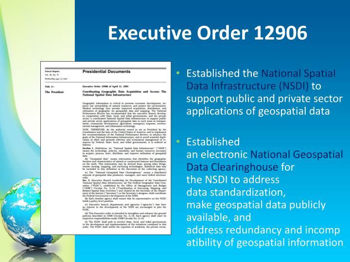 Executive Order 12906
