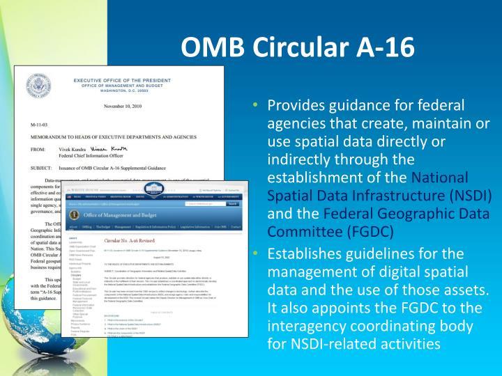 OMB Circular A-16