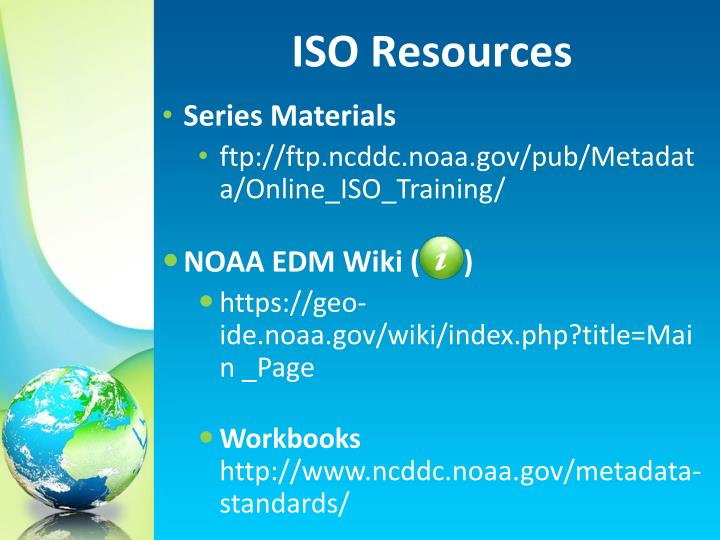 ISO Resources