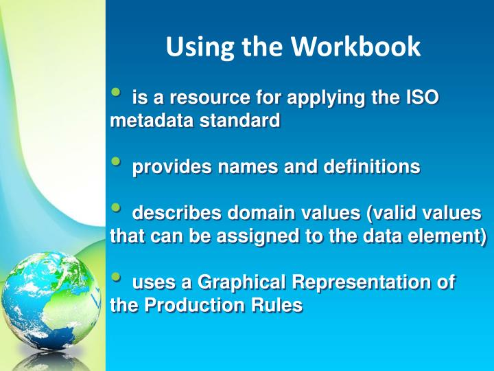 Using the Workbook