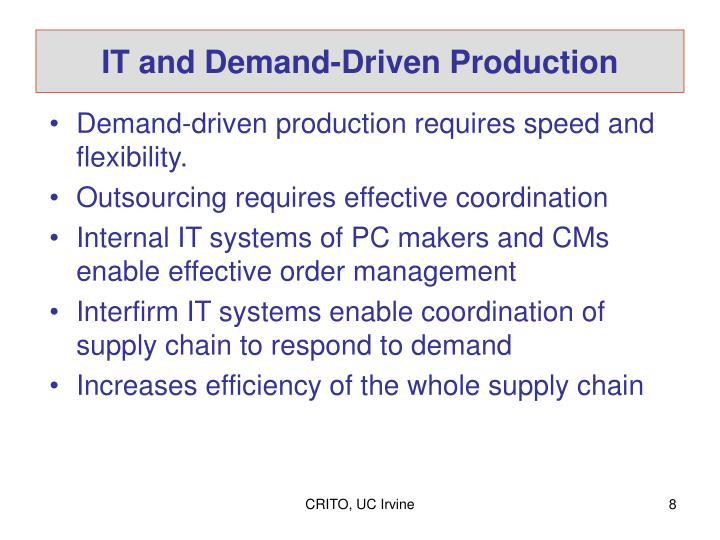 IT and Demand-Driven Production