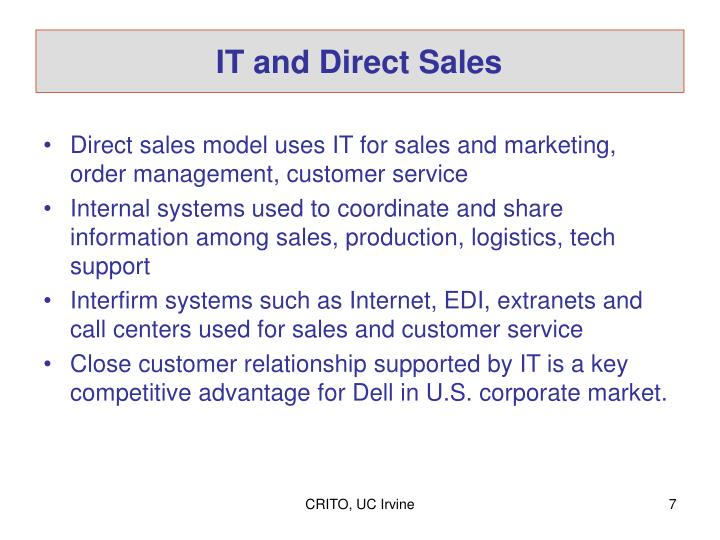 IT and Direct Sales