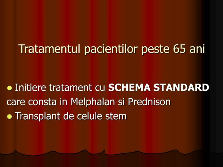 Tratamentul pacientilor peste 65 ani