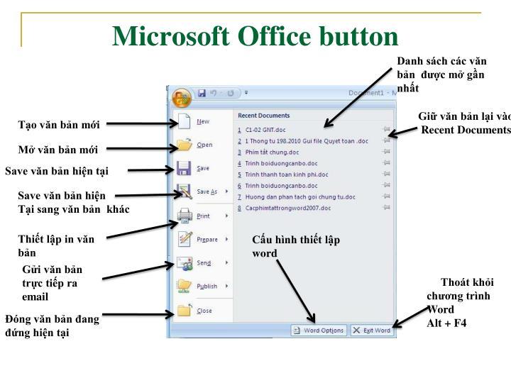 Microsoft Office button