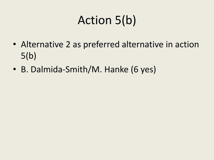 Action 5(b)