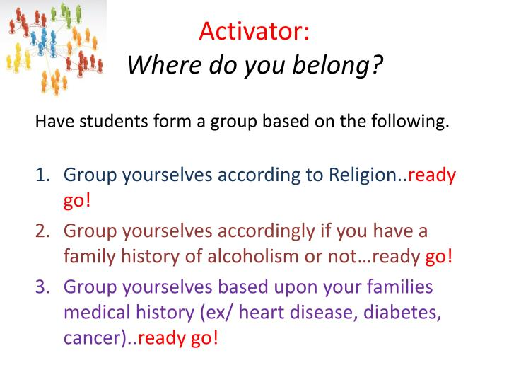 activator where do you belong
