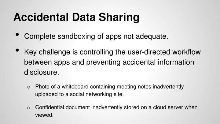Accidental Data Sharing
