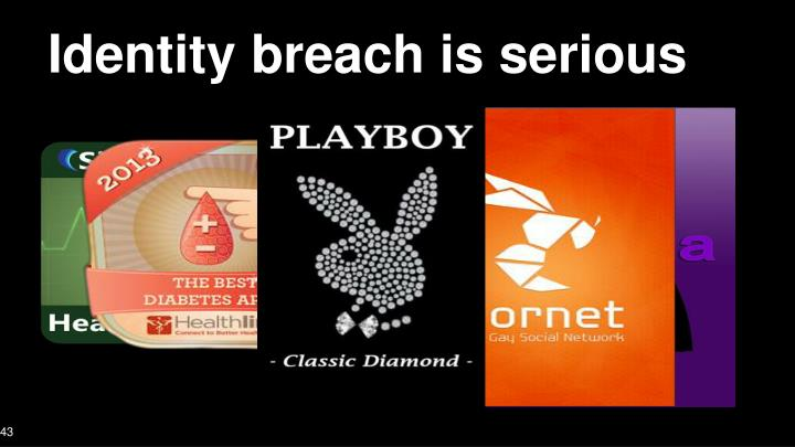 Identity breach is serious