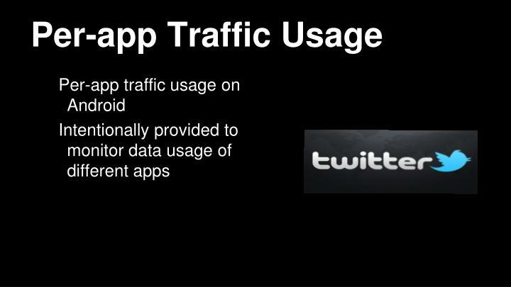 Per-app Traffic Usage