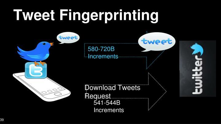 Tweet Fingerprinting