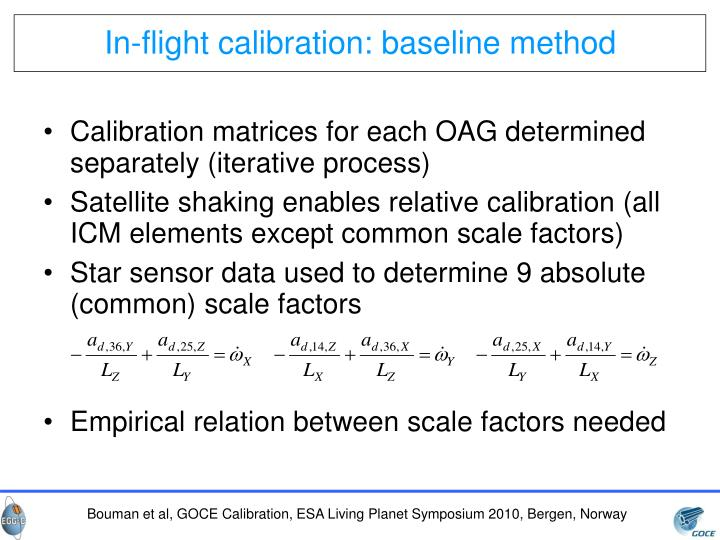 In-flight calibration: baseline method