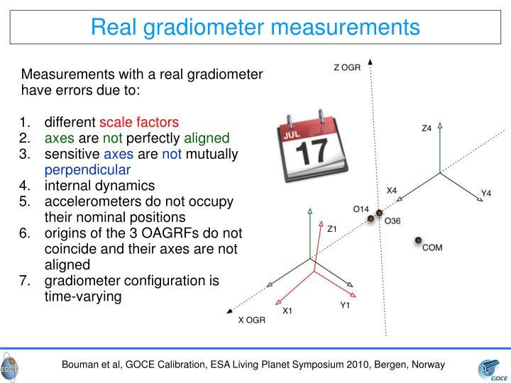 Real gradiometer measurements