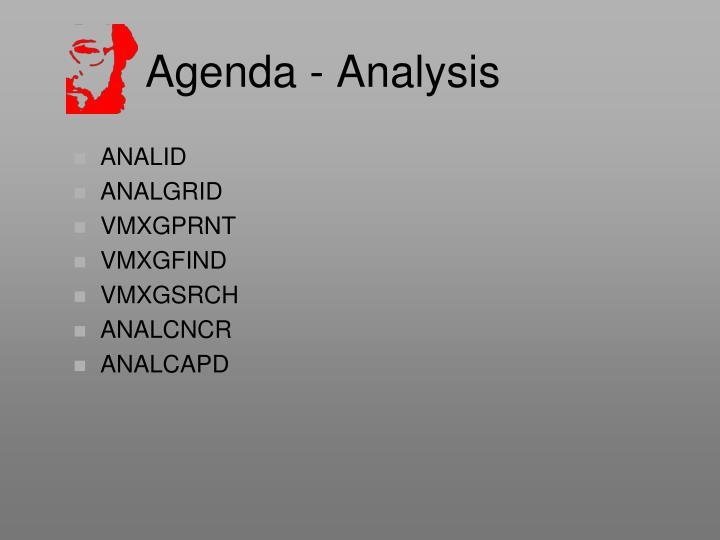 Agenda - Analysis