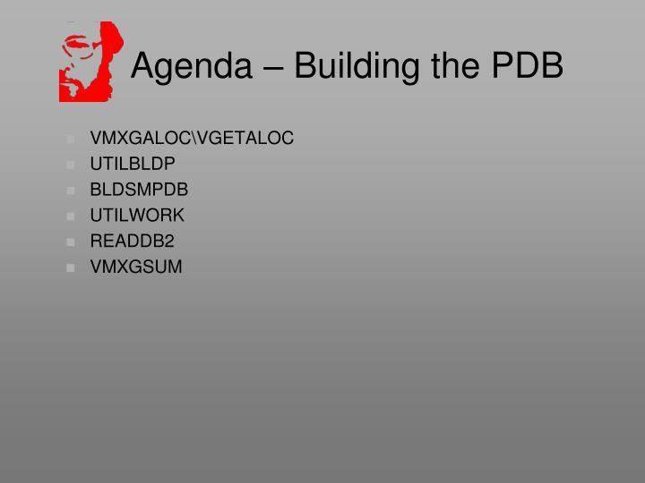 Agenda – Building the PDB