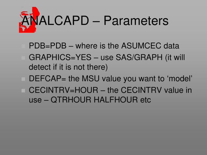 ANALCAPD – Parameters
