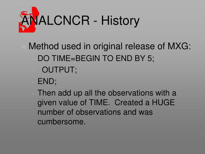 ANALCNCR - History