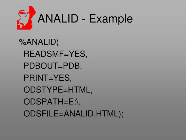 ANALID - Example