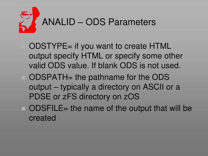 ANALID – ODS Parameters