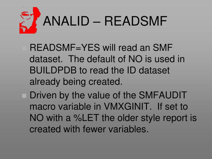 ANALID – READSMF